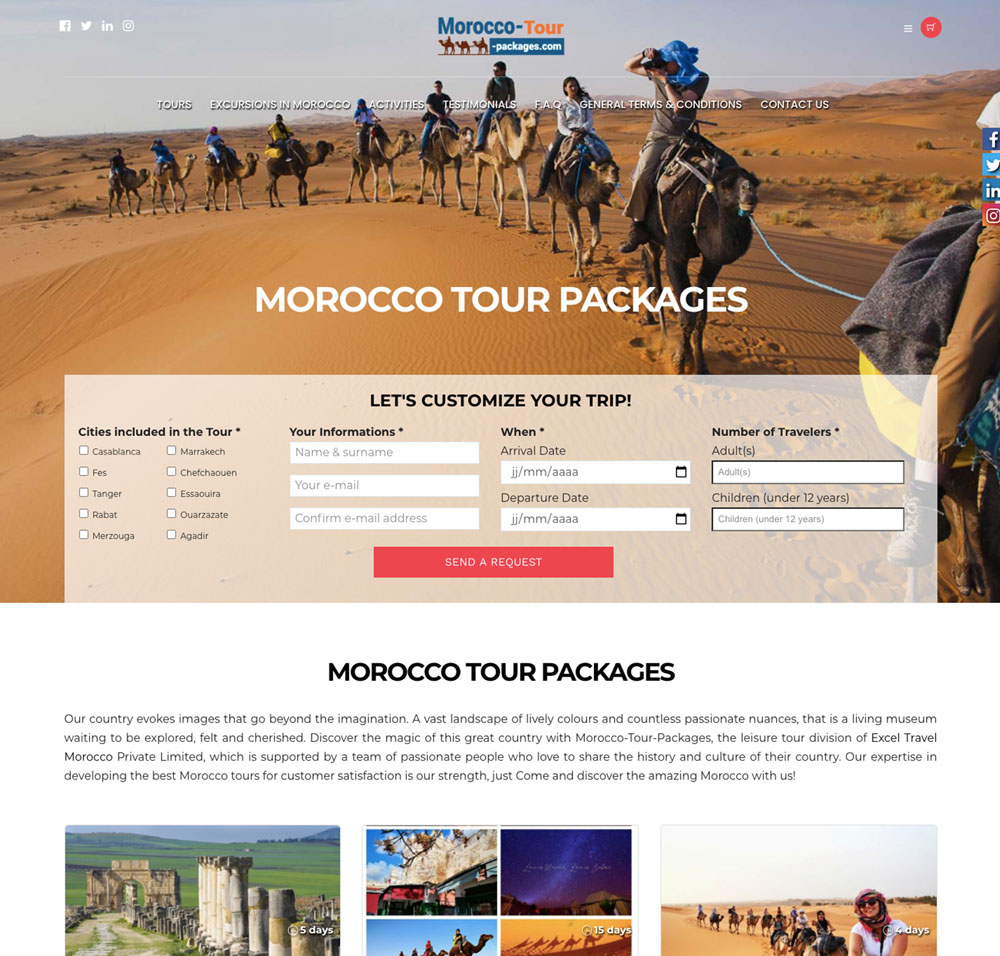 Morroco tour packages